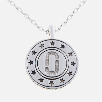 Marc Jacobs Women's Medallion Double Sided Pendant - Silver