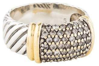 David Yurman Diamond Metro Cable Cocktail Ring