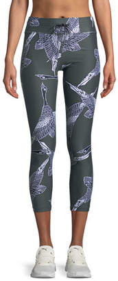 The Upside Mallard Printed Drawstring Midi Leggings