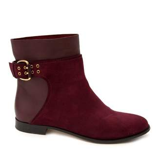 Jimmy Choo Burgundy Suede Ankle boots