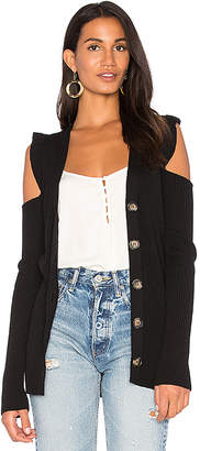 Nude Cut Out Shoulder Cardigan