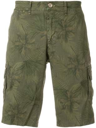 Jeckerson palm tree print cargo shorts