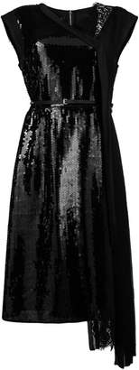 Marc Jacobs belted sequined lace dress