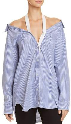 Alexander Wang Cold-Shoulder Shirt