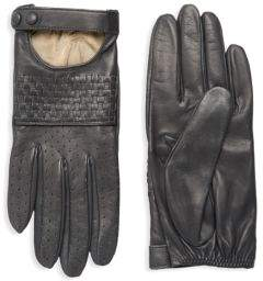 Portolano Basket Weave Leather Gloves