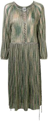 M Missoni patterned pleated dress