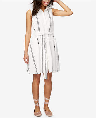 RACHEL Rachel Roy Cotton Printed Shirtdress, Only at Macy's $129 thestylecure.com