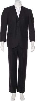 Kiton Striped Wool Suit