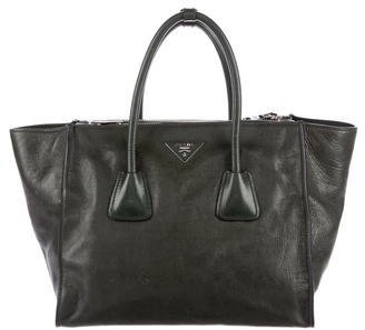 prada Prada Buffalo Double Zip Satchel