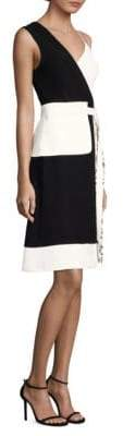 Yigal Azrouel Asymmetrical Dress with Apron Belt
