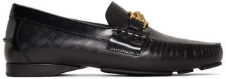 Versace Black Medusa Driving Loafers