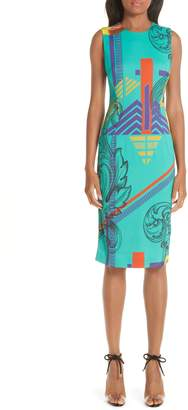 Versace Abstract Print Sheath Dress