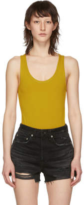 Rag & Bone Yellow The Tank Bodysuit
