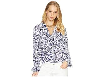 Lilly Pulitzer Sea View Rayon Voile Button Down