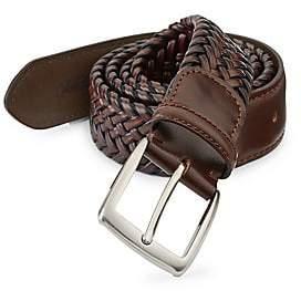 Saks Fifth Avenue Braided Burnished Leather Belt