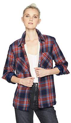 Volcom Junior's Plaid About You Long Sleeve Top