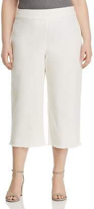Nic+Zoe Plus Frayed Denim Wide-Leg Pants