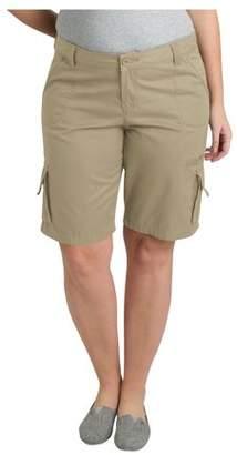 Dickies Women's Plus Size 11 inch Cotton Cargo Short- Plus size