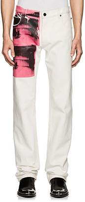 "Calvin Klein Men's ""Electric Chair""-Print Straight Jeans"