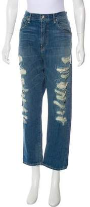 3x1 High-Rise Distressed Jeans