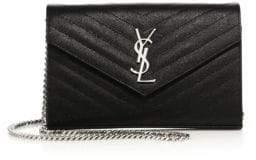 Saint Laurent Monogram Matelasse Leather Chain Wallet