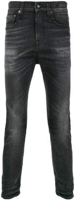 R 13 skinny stonewashed jeans