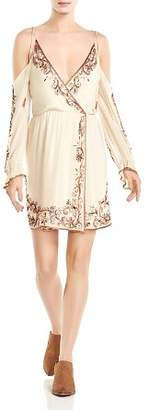Haute Hippie Love and Other Disasters Cold-Shoulder Silk Dress