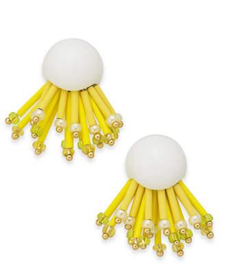 Kate Spade Gold-Tone Glass Bead Statement Stud Earrings