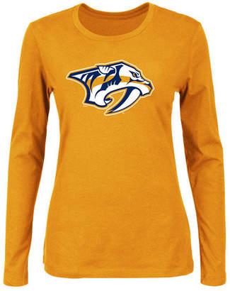 Majestic Women's Nashville Predators Primary Logo Long Sleeve T-Shirt
