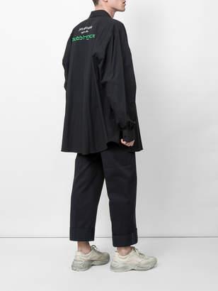 Raf Simons x joy division 'substance' printed back shirt