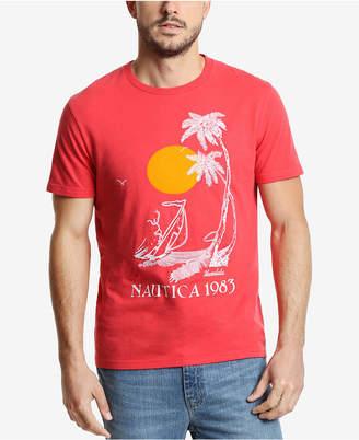 Nautica Men Vintage Palm Beach Graphic T-Shirt