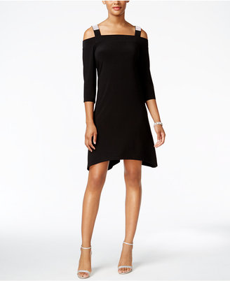 MSK Cold-Shoulder Shift Dress $69 thestylecure.com
