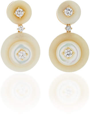Mother of Pearl Fernando Jorge Signal Small Earrings