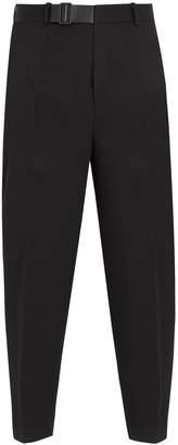 Jil Sander Pier S.15 belt-detail cropped wool trousers