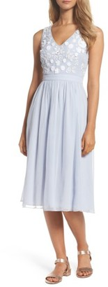 Women's French Connection Dalia Embellished Midi Dress $248 thestylecure.com
