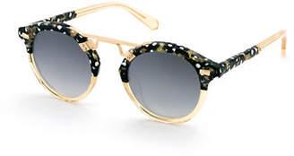 KREWE St. Louis II Two-Tone Round Acetate Sunglasses
