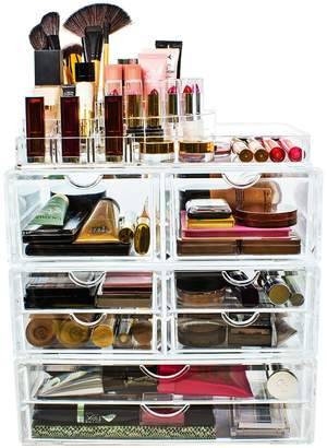 Sorbus Acrylic 4 Level Cosmetics Makeup & Jewelry Storage Case X-Large Display Set