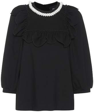 Simone Rocha Embellished jersey top