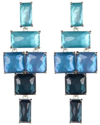 Ippolita Sterling Silver Wonderland Stacked Stone Drop Earrings