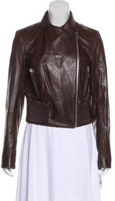 Andrew Marc Leather Zip Jacket w/ Tags