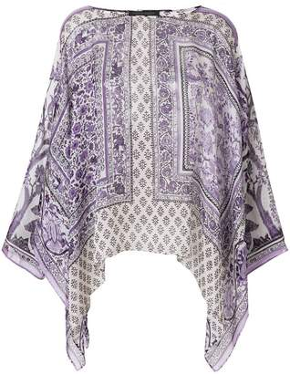 Alberta Ferretti printed draped blouse