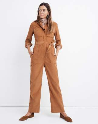 Madewell Corduroy Belted Jumpsuit