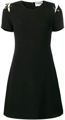 Versus v-neck safety pin dress