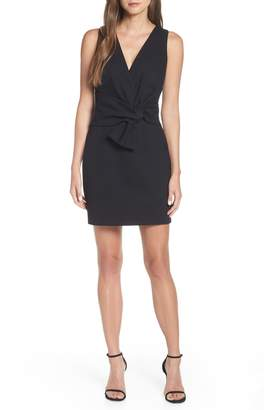 Adelyn Rae Gillian Tie Front Ponte Dress