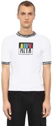 Color Block Logo Print Jersey T-Shirt