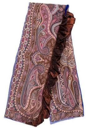 Etro Paisley Wool Scarf