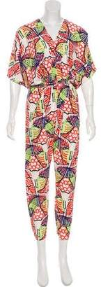 Zero Maria Cornejo Printed Tapered Jumpsuit