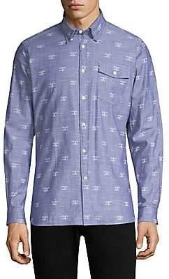Barbour Men's Beacon-Print Cotton Button-Down Shirt