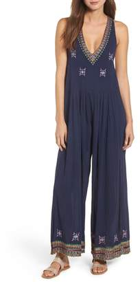 Kas Osian Hand Embroidered Cotton Gauze Jumpsuit