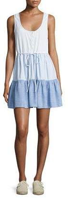 Rails Noelle Colorblocked Denim Dress, Blue Pattern $158 thestylecure.com
